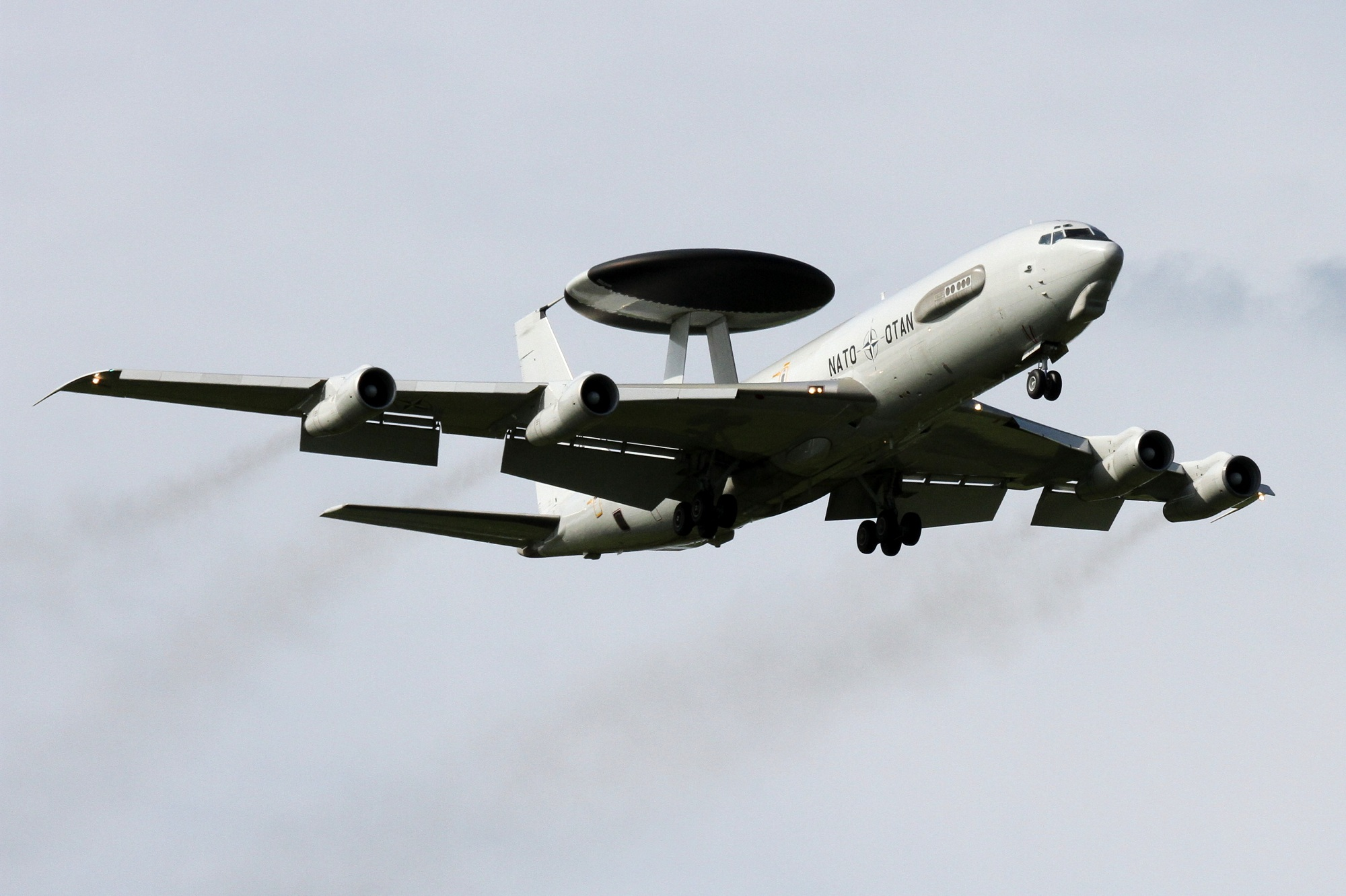 Luchtvaart NATO AWACS Airborne Warning and Control System Radarvliegtuig