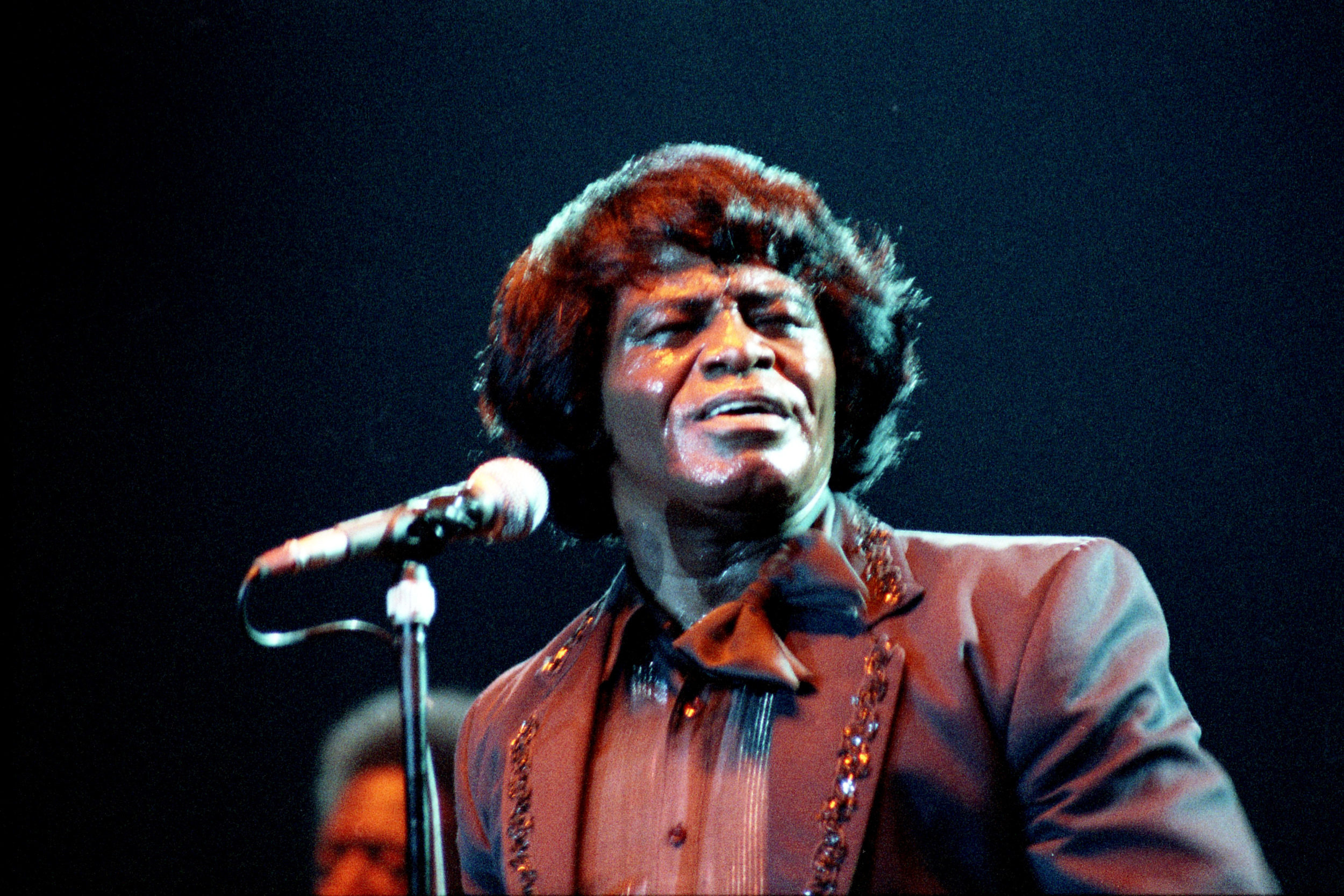 pop muziek popmuziek muzikanten artiest James Brown Ahoy Rotterdam 20 4 1986 Godfather of Soul