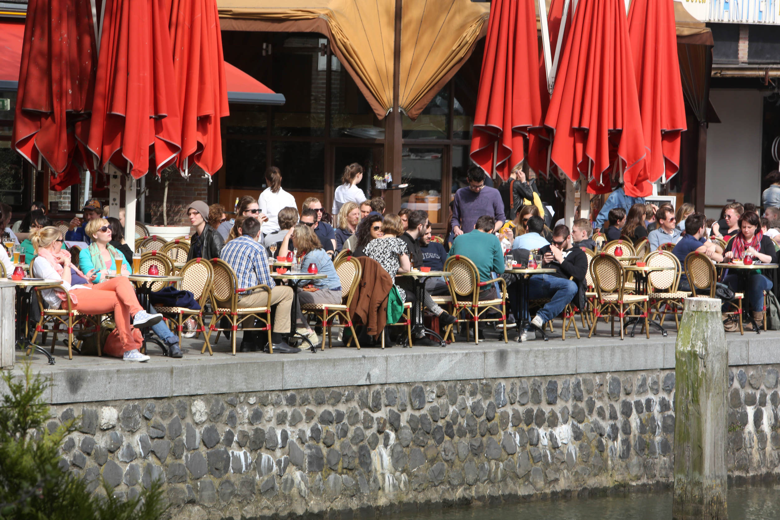 Rotterdam Oude Haven Vol Terras