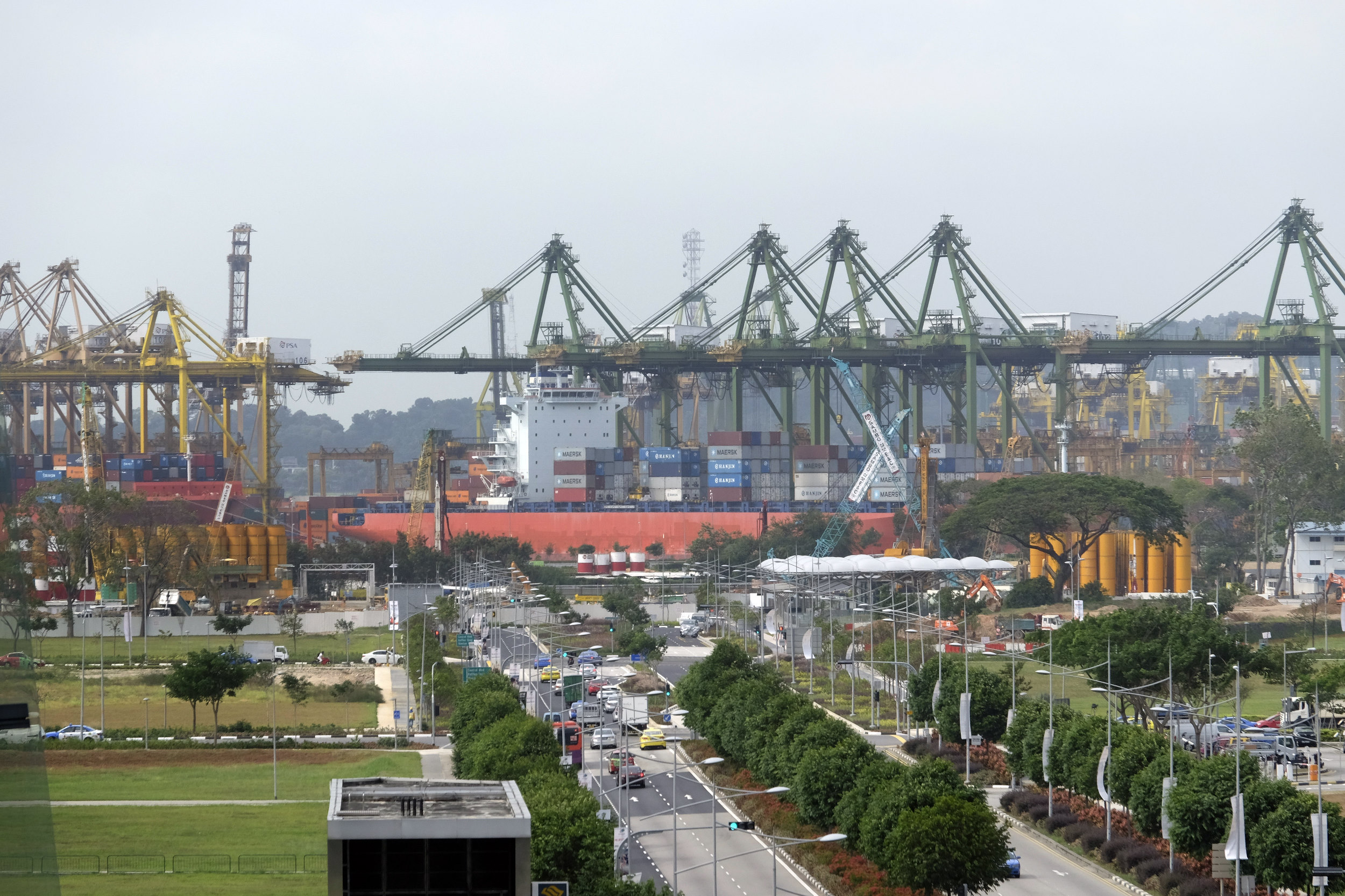 Singapore Haven Containerterminal Kranen