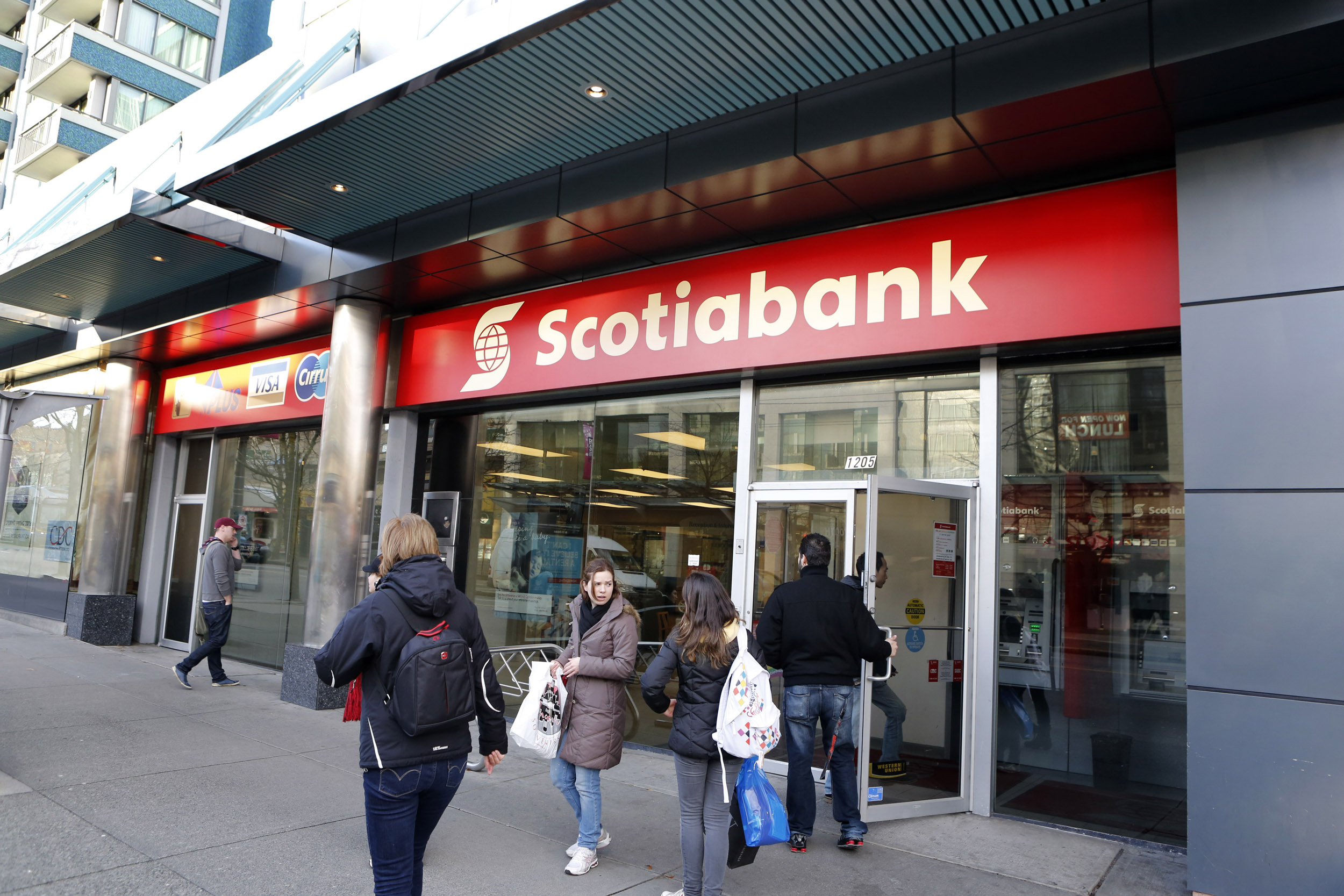 Canada, British Columbia, Vancouver, Scotiabank, logo
