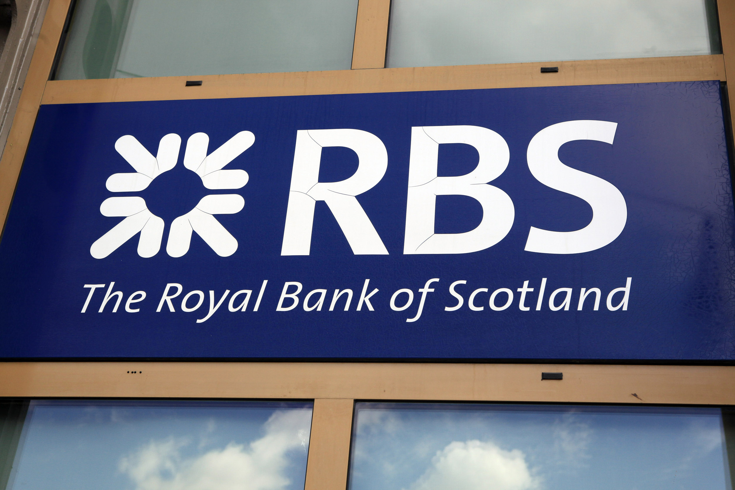 Griekenland, Athene, RBS bank, Royal Bank of Scotland, logo, Greece