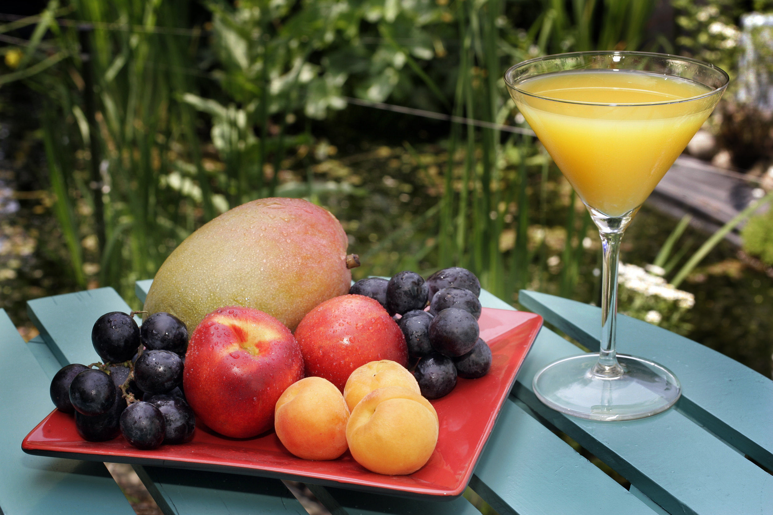 fruit cocktail mango vitamine gezond healthy abrikoos apricot nectarine kers cherry