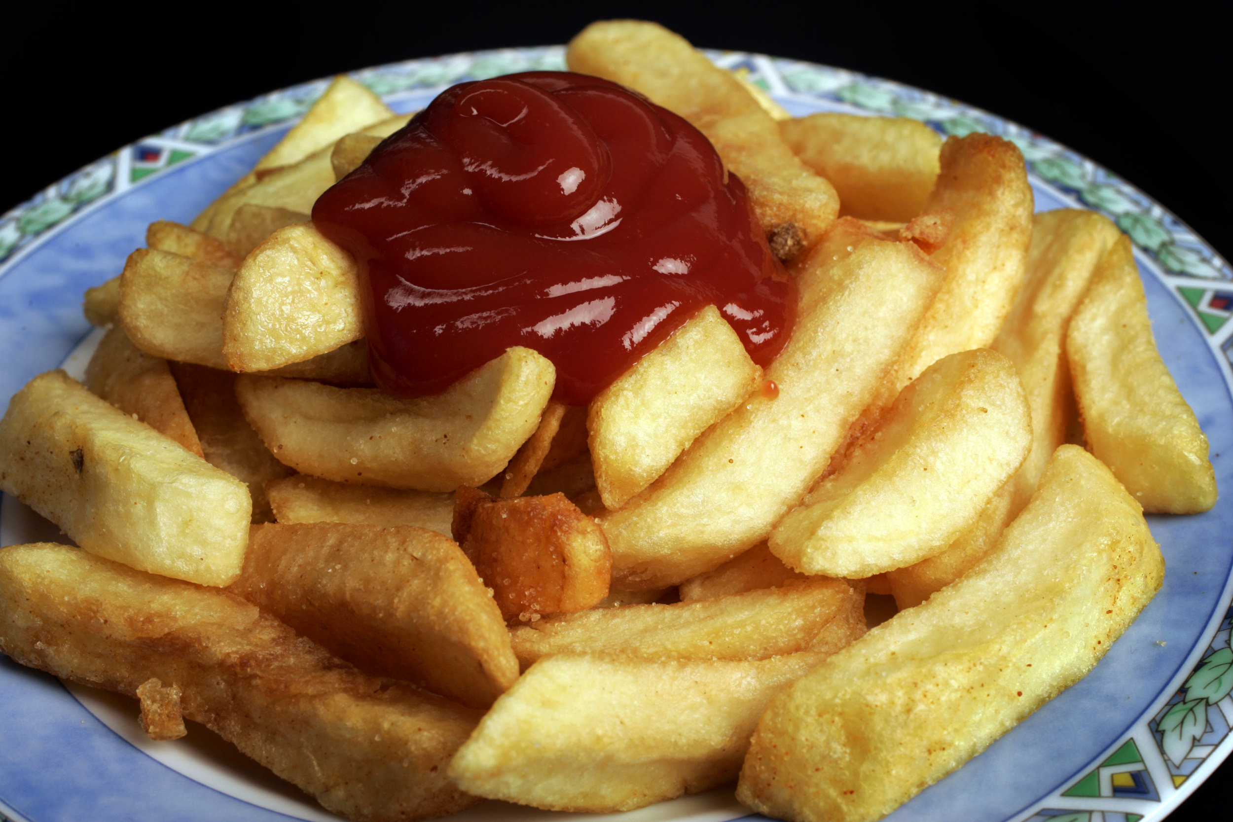 patat fries fastfood frituur ketchup ongezond